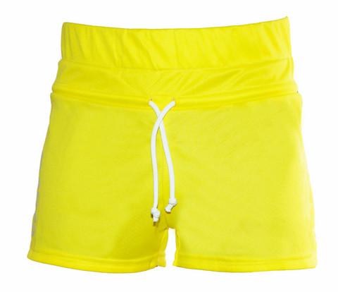 FLORA naisten shortsi,väri: kelta/sininen