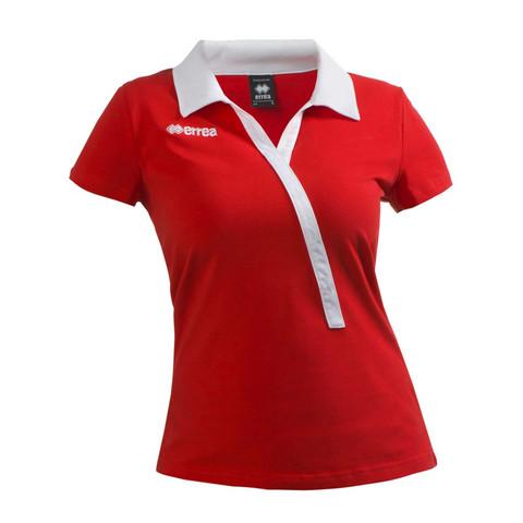 JULIE  naisten pikeepaita väri: puna/valkoinen