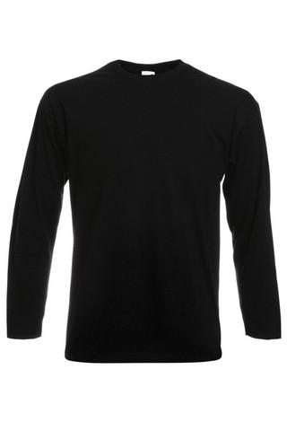 Pitkähihainen puuvilla T-paita, musta