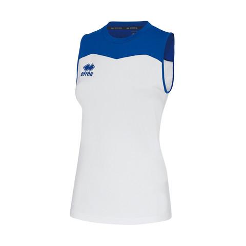 GLENDA  naisten pelipaita väri: valko/sininen