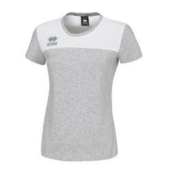 MELANIE naisten t-paita väri: harmaa/valkoinen