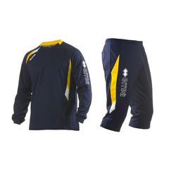 COLE setti paita ja 3/4 housut, Väri: navy/kelta/valkoinen