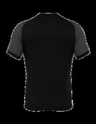 PARMA  lyhythihainen paita väri: musta/neonkeltainen