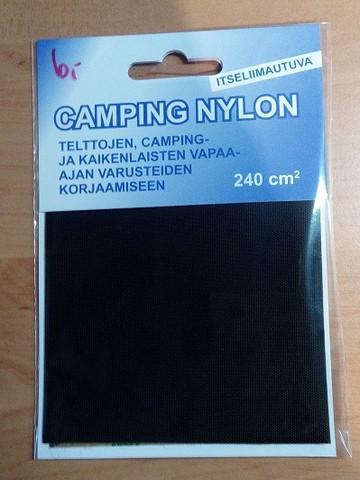 Liimapaikka, camping nylon, musta