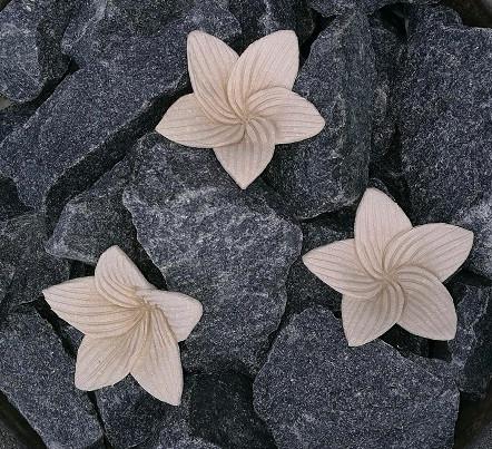 Kiuaskukka, lilja, beige (3kpl/pkt)