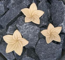 Kiuaskukka, lilja, murrettu keltainen (3kpl/pkt)