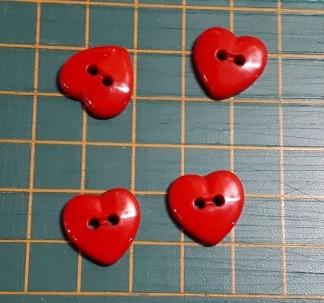 Sydännappi, punainen 0358