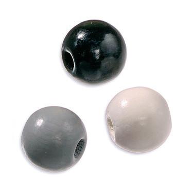 Puuhelmisekoitus, harmaa-valko-musta, 650