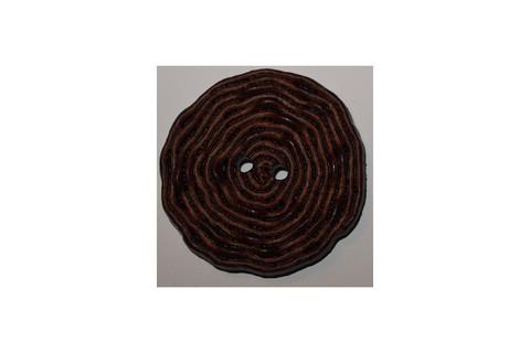 Spagettinappi, ruskea, 309