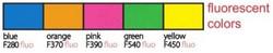 Silitysarkki Fluorescent (huomiovärit) Hohtavat uv-valossa