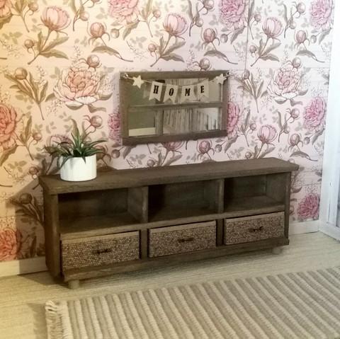 Nukkekodin Lipasto vetolaatikoilla - Vintageruskea
