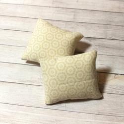 Nukkekodin Sisustustyynyt, 2 kpl/pkk - Ympyräkuvio Vaalea beige
