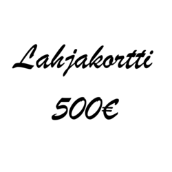 Lahjakortti 500€