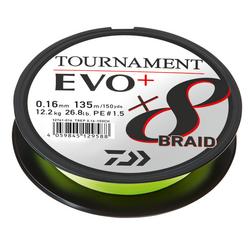 Daiwa Tournament 8 Braid EVO+ 135m Chartreuse