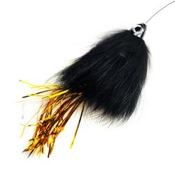 SpinTube Pike 45g nopeasti uppoava mustamustakulta tinseli