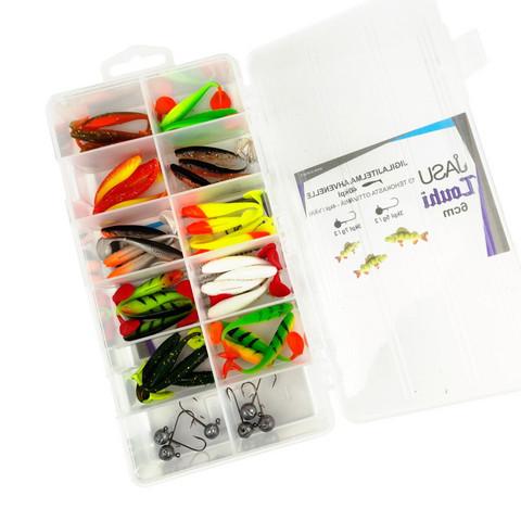 Jasu Louhi kalajigilajitelma 6cm 40kpl + jigipäät