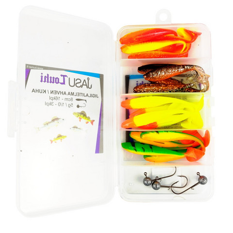 Jasu Louhi kalajigilajitelma 8cm 16kpl + jigipäät