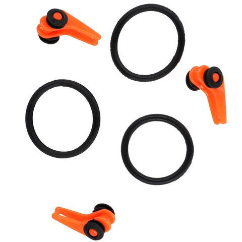 Clip For Hook Adjustable -Orange 3kpl