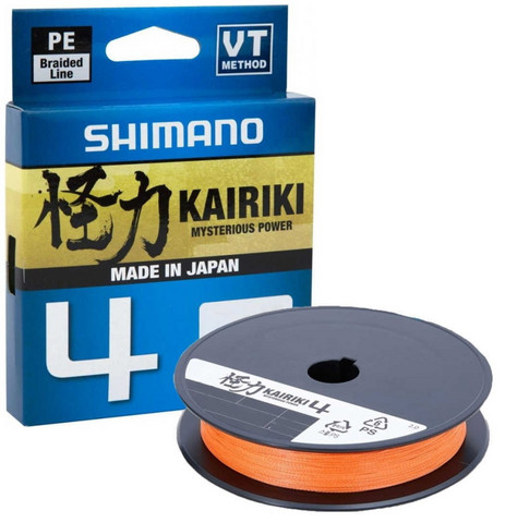 Shimano Kairiki 4 Hi-Vis Orange 150m