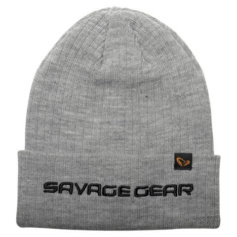 Savage Gear Fold-Up Beanie Light Grey Melange