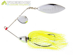 12g FREEDOM Spinnerbait CW Blades - Chartreuse Shad