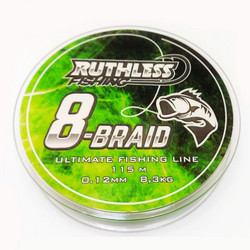 Ruthless 8-Braid kuitusiima 115m